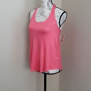 Mudd coral pink racer back tank top Small